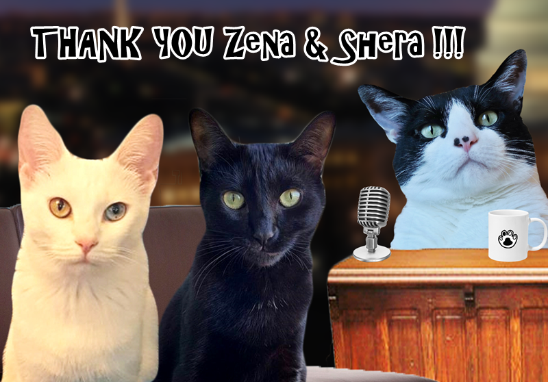 "The Caterview Episode 3: Zena and Shera ""The Yin Yang Sisters"" Thank you very much. Come back anytime."